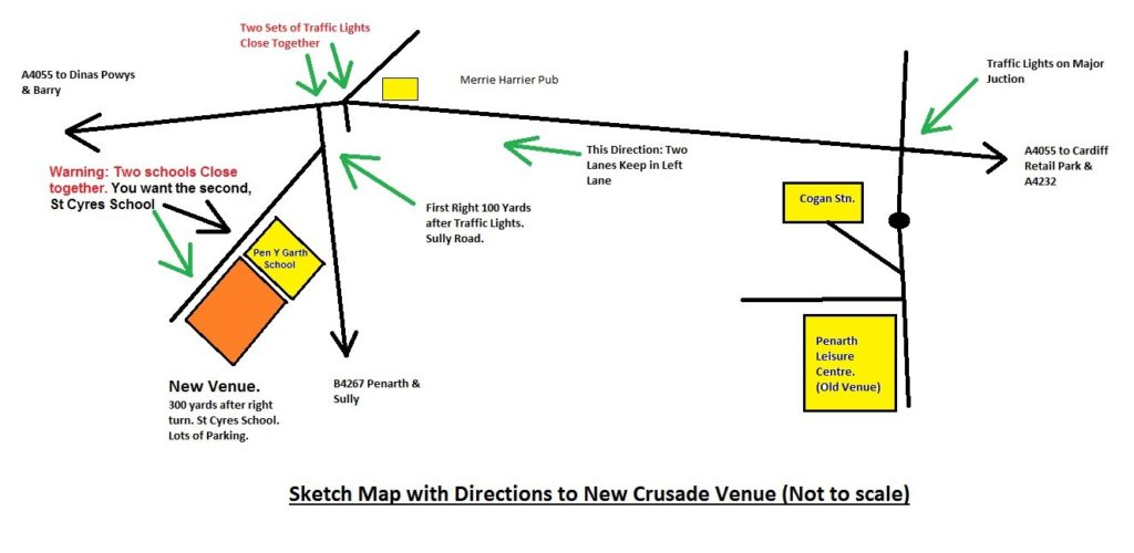 Directions to Crusade 2017 wargames show